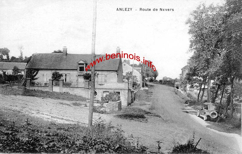 Route de Nevers a Anlezy