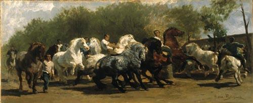 Marché aux chevaux par Rosa Bonheur